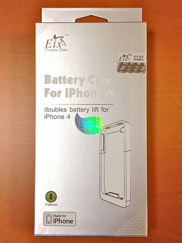 iPhone 4S バッテリーケース – Eix Power Skin for iPhone 4 /4S